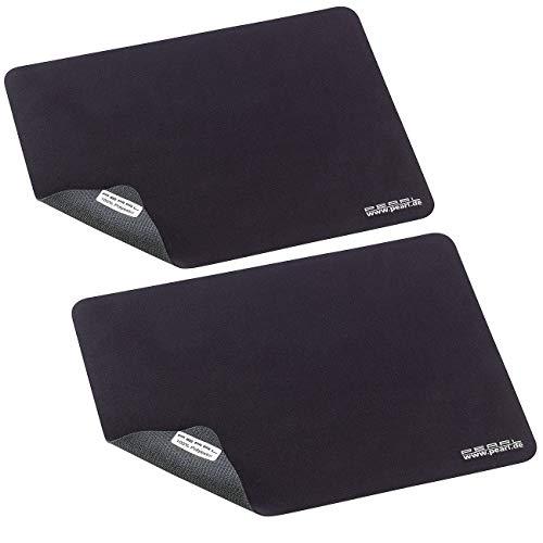 PEARL Mausmatte: 2er-Set 3in1 Mikrofaser-Mauspad, Bildschirm-Schutz und Reinigungs-Tuch (Tastatur Schutztuch)