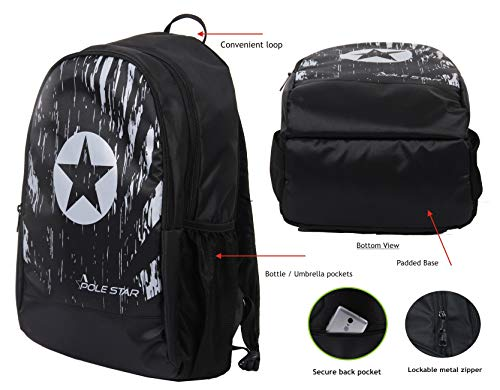 POLESTAR Polestar Amaze 30 L Casual/Travel Backpack with Laptop Compartment (Black)