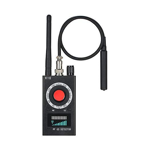 KKmoon Anti Spy RF Detector Wireless Bug Detector, Anti-spy Detector K18 Camera GSM Audio Bug Finder GPS Signal Lens RF Tracker