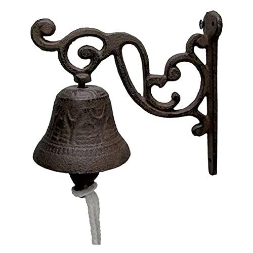 Angmile Campana de Puerta de Entrada para el hogar, decoración Vintage, Bonito pájaro, Timbre de Mano, Timbre para Colgar en la Pared