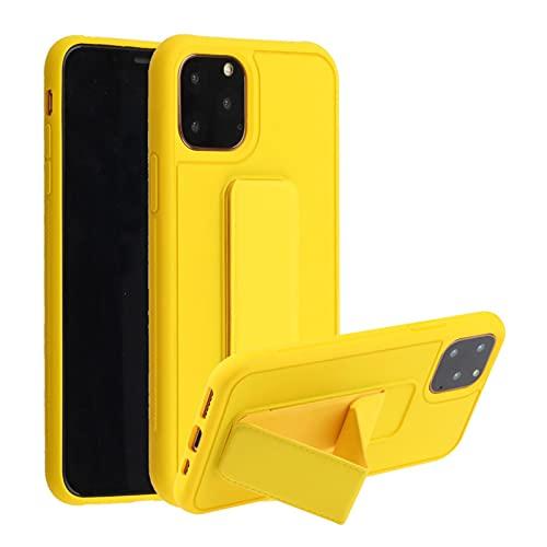 Oihxse Coque Mode Compatible pour Huawei P20 Lite Étui Silicona Liquide Souple Housse Protection Cover avec Support Magnétique pour Voiture Ultra Mince Anti-Chute Bumper Case,Bleu Marin