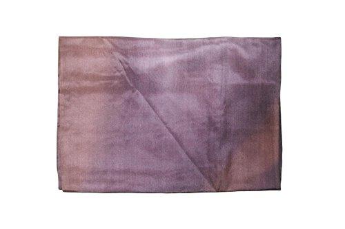 naturwaren-online Seiden-Tuch 90x90cm batic-look Farbverlauf blau-braun