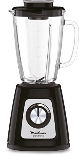 Moulinex LM430810 Blendforce Standmixer Glas 800 W Elektrisches Mixer Smoothie Eis, Crushed Obst, Gemüse, Schwarz