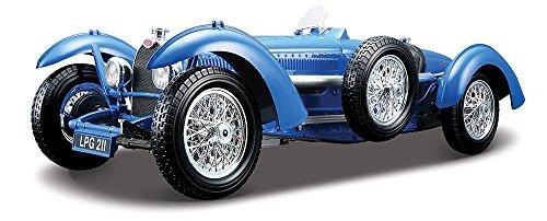 Bburago - 12062 - Radio Commande Véhicule Miniature - Bugatti Type 59 - Echelle 1:18 - Bleu