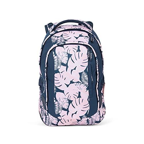 satch Sleek Botanic Blush, ergonomischer Schulrucksack, 24 Liter, extra schlank, Pink