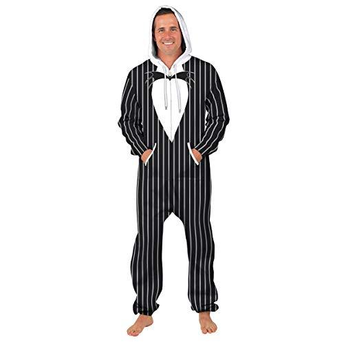Unbekannt Unisex 3D gedruckt Kapuzenpullover Pyjama Galaxie-Sterne Sportbekleidung Overall Lion Cosplay Party Halloween Weihnachten Onesies,A,M