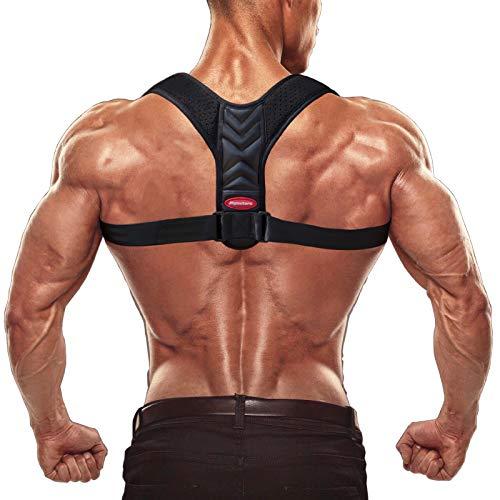 Olymstars Rücken Geradehalter, Atmungsaktiv Verstellbarer Rückenstütze für Herren und Damen, Schultergurt Haltungskorrektur zur Therapie für haltungsbedingte Rücken, Nacken und Schulterschmerzen
