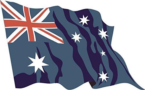 Aufkleber / Autoaufkleber Fahne A-LS13 Australia - Australien 10 cm fürs Auto oder Heckscheibe