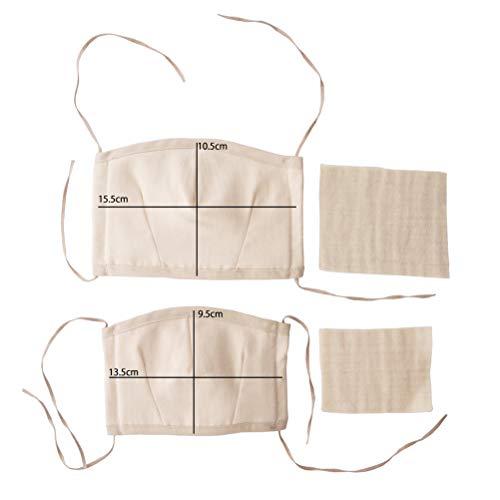 オーガニックコットンやわらか立体マスク[M]替えガーゼ2枚付きORGANICGARDEN