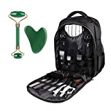 JCZR Hairstylist Backpack Hairdressing Tool Bag Supplies Large Capacity for Clippers and Supplies Barber Shop Tool Bag Hairdresser Trave Bag(No Contain Internal Tools) Black