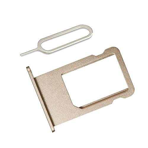 LIBAI-V SIM Card Tray Holder Compatible with iPhone 6 incl Ejector Pin Tool + Cloth (Gold)