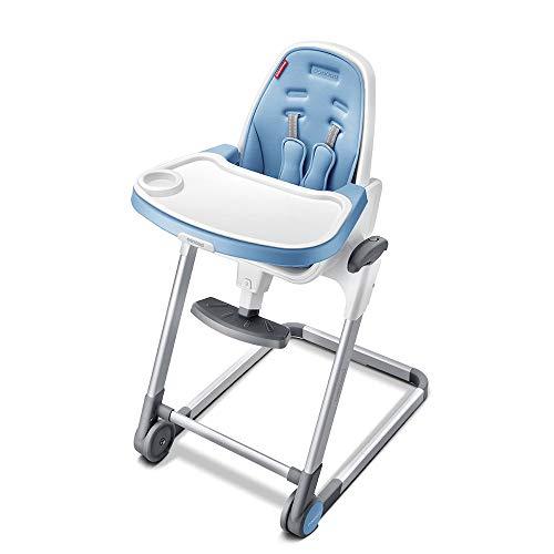 Chaise haute Bébé Chaise pliante Salle multifonctionnelle Lumière Portable enfant Chaise bébé enfant Manger Siège de table Chaise haute bébé Chaise haute portable ( Color : Blue , Size : 55×72×104CM )