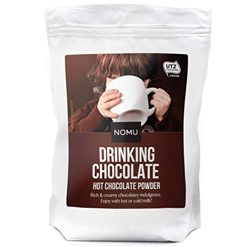 NOMU Drinking Chocolate 2.2lb Bulk Bag [45 servings] Hot Cocoa Powder