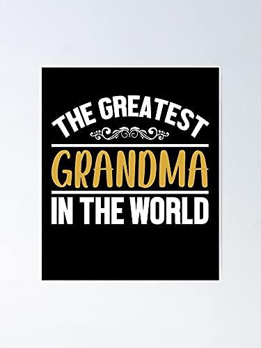 Poster con scritta 'Situen The World's Most Grandmother', per la decorazione della sala giochi, stampabili per bambini, decorazione da parete per camerette stampabili.