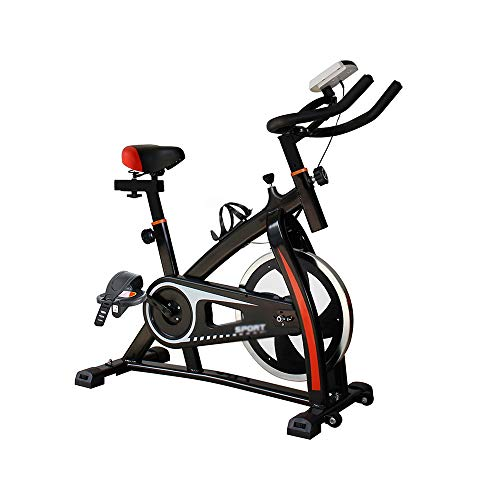 XJWWW-URG Bicicleta deportiva de interior, bicicleta deportiva de interior, bicicleta dinámica con resistencia ajustable en el manillar, tiempo de velocidad de lectura inteligente, con placa antidesli