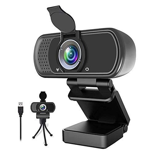 YEYU BH 1080P Full HD Cámara de PC de enfoque fijo, cámara web con micrófono cámara IP, para PC ordenadores y portátiles cámara web (color negro)