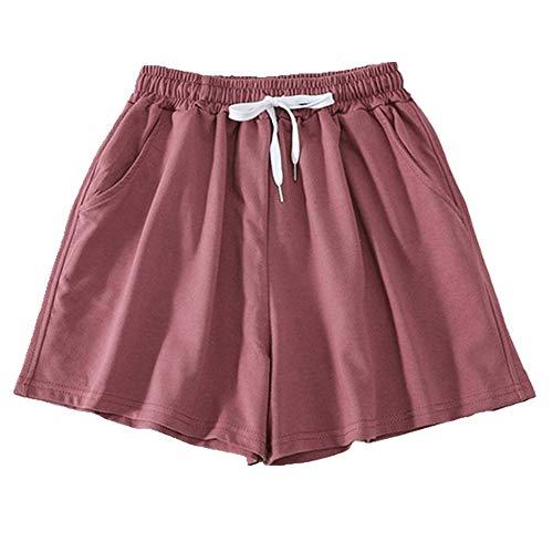 N\P Pantalones cortos de mujer de verano con cordón de cintura alta