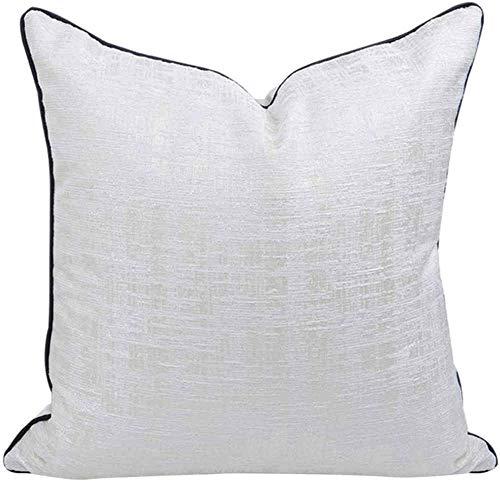 BENREN Pillow White Texture, Simple Living Room Villa Hotel Cushion Pillowcase,45 * 45CM