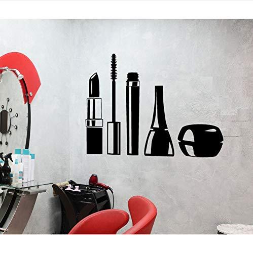 ACEYCYS Wandtattoo Design Wasserdichte Wandaufkleber Mascara Lippenstift Frau Dekor für...