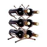 LOFAMI Juegos de Accesorios de baño Seis de Bronce Rack Botella de Vino no se Requiere ensamblaje encimera Vino Titular Perfecto for el hogar decoración de la Cocina Juegos de Accesorios de baño