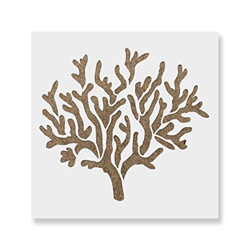 Coral Stencil Template for Walls and Crafts - Reusable Stencils for Painting in Small & Large Sizes