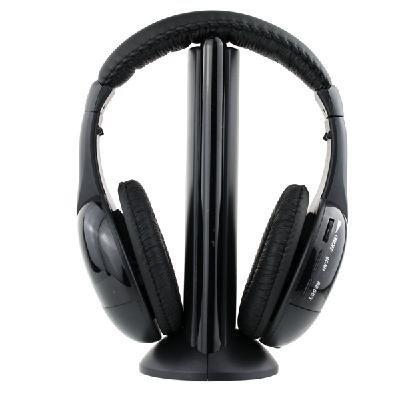 Auriculares inalámbricos con 5 funciones para radio FM - MP3 - PC -...
