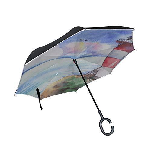 Paraguas Plegable de Doble Capa Silla Plegable de pie Faro Alto y...