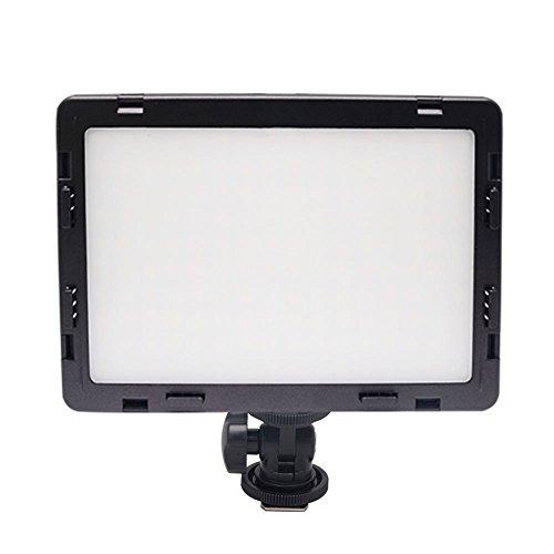 Mcoplus® Air-1000B 2,5 cm (0,98 Zoll) ultradünner CRI 95, 14 W, 5500 oder 3200 K LED-Videoleuchte, dimmbar, Flachbildschirm, On-Camera-Pad für Canon Nikon Pentax Olympus Samsung JVC-DSLR-Kameras von Panasonic, DV-Camcorder