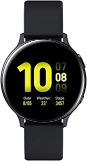 (Renewed) Samsung Galaxy Watch Active 2 (Bluetooth + LTE, 44 mm) - Black, Aluminium Dial, Silicon Straps