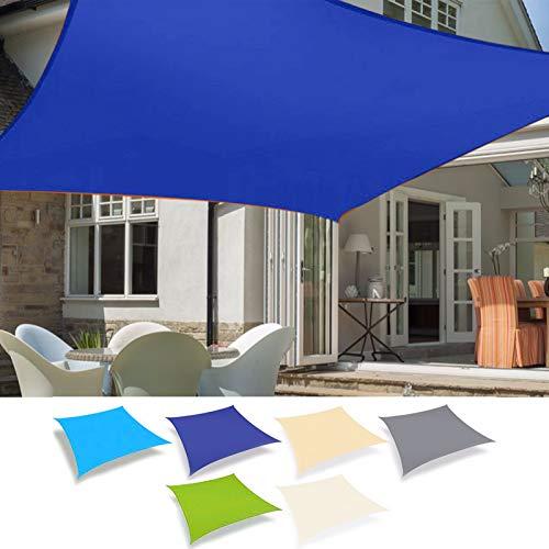 ZJHTK Sombra Sombra de Sombra, Rectángulo Dosel de Alta Densidad Impermeable UV Protectora para Patio al Aire Libre Jardín Playa Party Camping,Verde,5mX5m