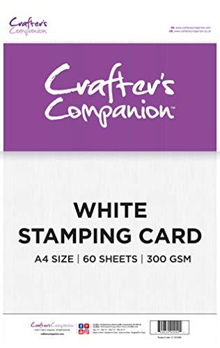 Crafter's Companion CC-STCARD A4 Weiß Prägekarte Packung Von 60, White