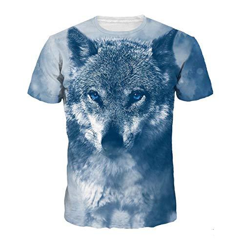 3D impresión Lobo Camiseta de los Hombres 2019 Verano recién Llegado Divertido Animal Unisex Punk Camiseta más el tamaño de Homme Top Tees al por Mayor
