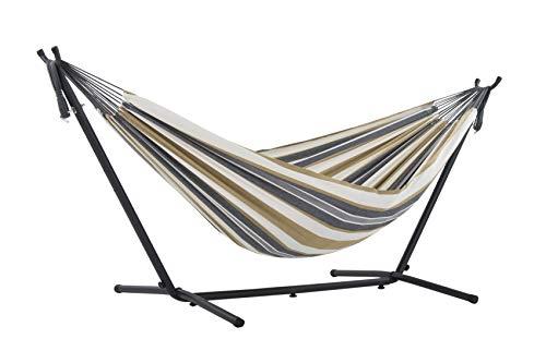 Vivere UHSDO8-25 - Hamaca con soporte incluido, multicolor, 250 cm, doble, diseño Luna del Desierto