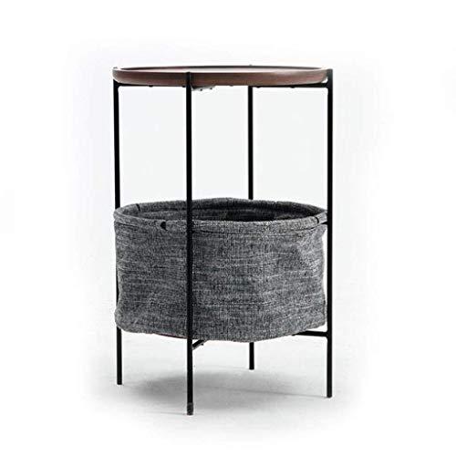LY88 massief hout kleine bank opslag bijzettafel, eenvoudige zwarte walnoot lezen eettafel Snack tafel creatieve huis koffietafel