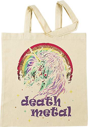 Vendax Zombie Unicorn Death Metal Beige Einkaufstasche