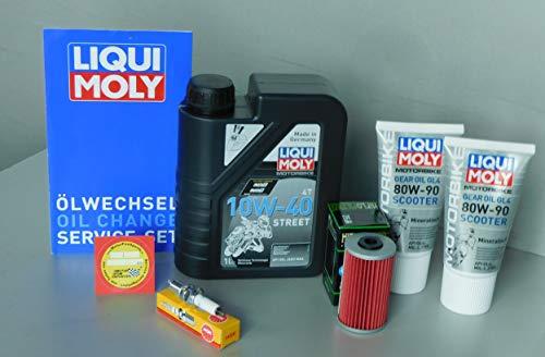 MotorFunSports Wartungs Set Kymco Yager GT 125 Öl Zündkerze Service Inspektion Ölwechsel