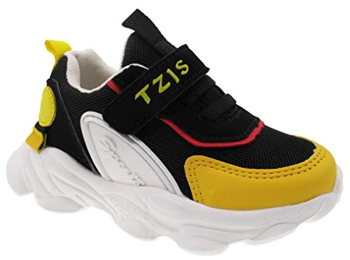 TZJS Toddler Sneakers,Lightweight Walking Running Tennis Shoes,Casual Shoes for Boys and Girls (Black 6.5)