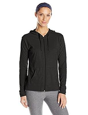 Hanes Women's Jersey Full Zip Hoodie, Black, Medium by Hanes Women's Activewear