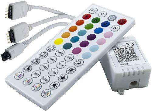 Centralina musicale RGB BLUETOOTH per strisce LED da casa TV barca camper camion 12V 24V 5V con 2 connettori per gestire fino a 2 strisce e 10 metri Partenopeautensili®