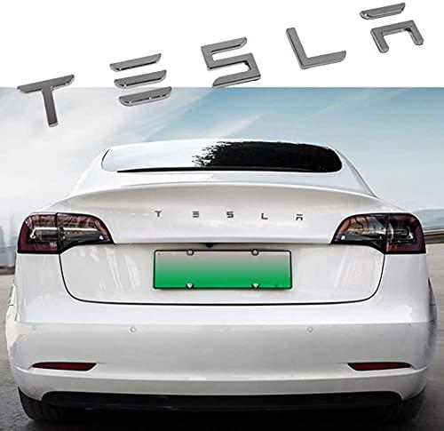 Emblema De La Parrilla Delantera Del Coche 3d, Etiqueta Engomada Del Emblema De La Insignia Del Maletero Trasero, Accesorios De Estilo Del Coche, Para Tesla Model S Model 3 Model X