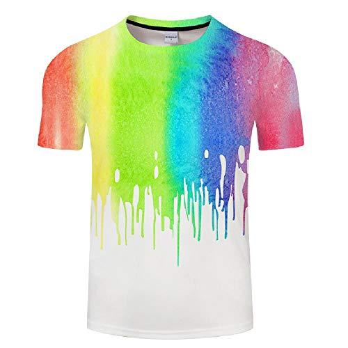 Herren T-Shirts 3D-Druck Gedruckte Graffiti, Herren Moletom Herren T-Shirts 3XL