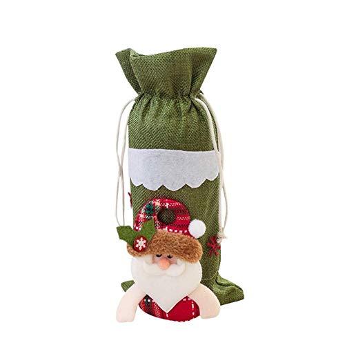 Bolsa de 2 piezas de la máquina Vino de la Navidad Vino bordado de botellas conjunto decoración de la tabla Material árbol de Navidad celebración de días festivos Decoración Decoración Adornos
