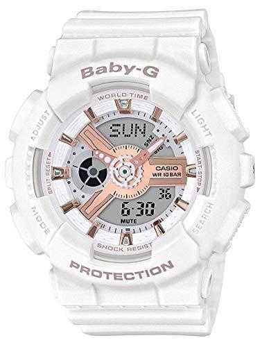 Casio BA110RG-7A Baby G Women's Watch White 43.4mm Resin