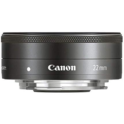 Canon EF-M 22 mm f/2 STM - Objetivo para Canon (Distancia Focal Fija 22 mm, Apertura f/2-22) Negro