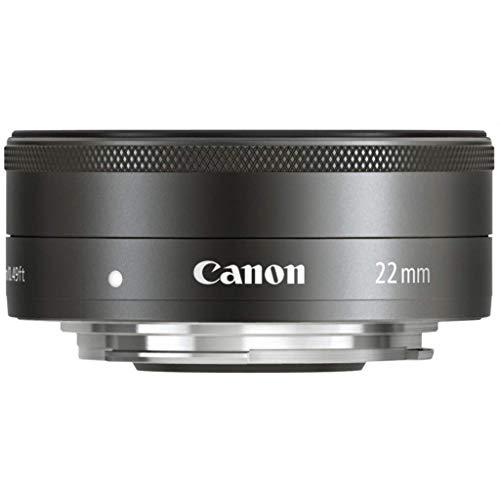 Canon Objektiv EF-M 22mm F2 STM Pancake für EOS M (Festbrennweite, 43mm Filtergewinde, Servo Autofokus), schwarz