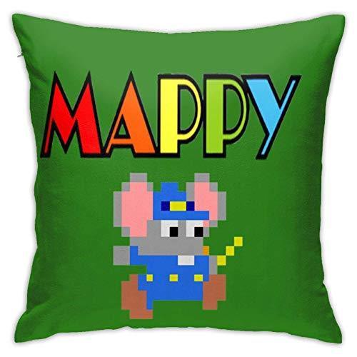 maichengxuan Mappy - Fundas de almohada ligeras con capucha, fundas de almohada, fundas de cojín, fundas de respaldo, interior de cojín de coche