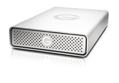 G-Technology 4TB G-DRIVE USB 3.0 Desktop External Hard Drive, Silver - Compact, High-Performance Storage - 0G03594-1