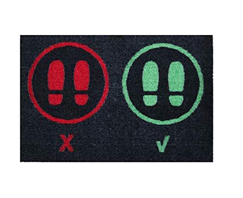 Alfombra desinfectante Calzado - Felpudo Limpia Zapatos para la Entrada, moqueta higienizante (40_x_68_cm)