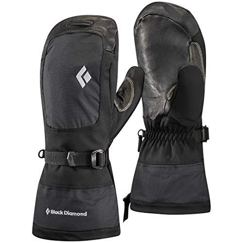 Black Diamond Mercury Mitts Handschuhe für Kaltwetteraktivitäten im Hochgebirge / Wetterfester Fausthandschuh mit herausnehmbarem Innenhandschuh und silbernem Logo / Unisex, Black, Größe: M