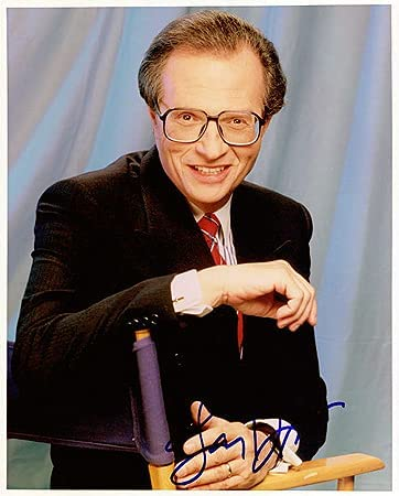 LARRY KING San Francisco Mall 8x10 Male Regular store Signed Photo In-Person Celebrity